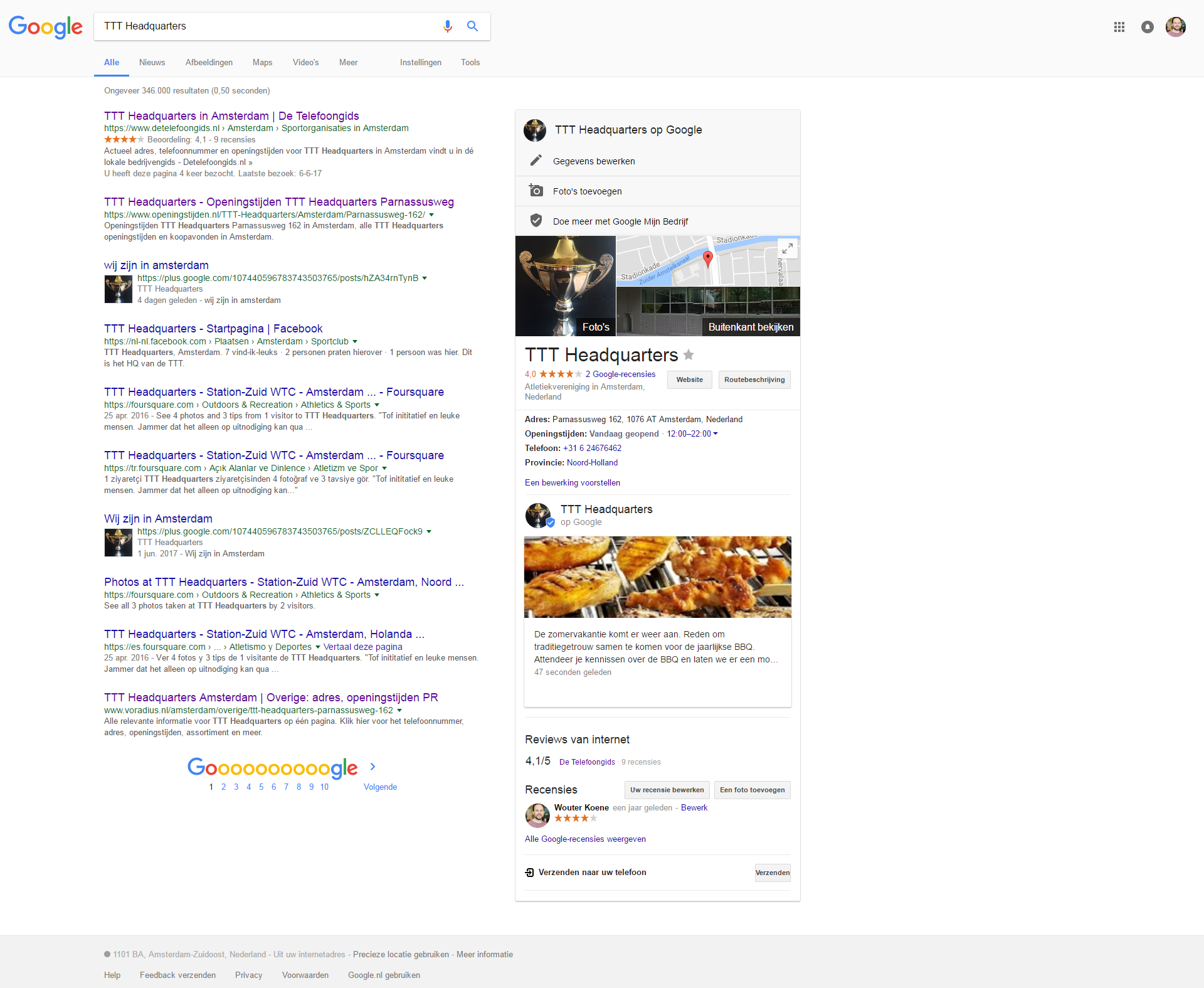 google post in search
